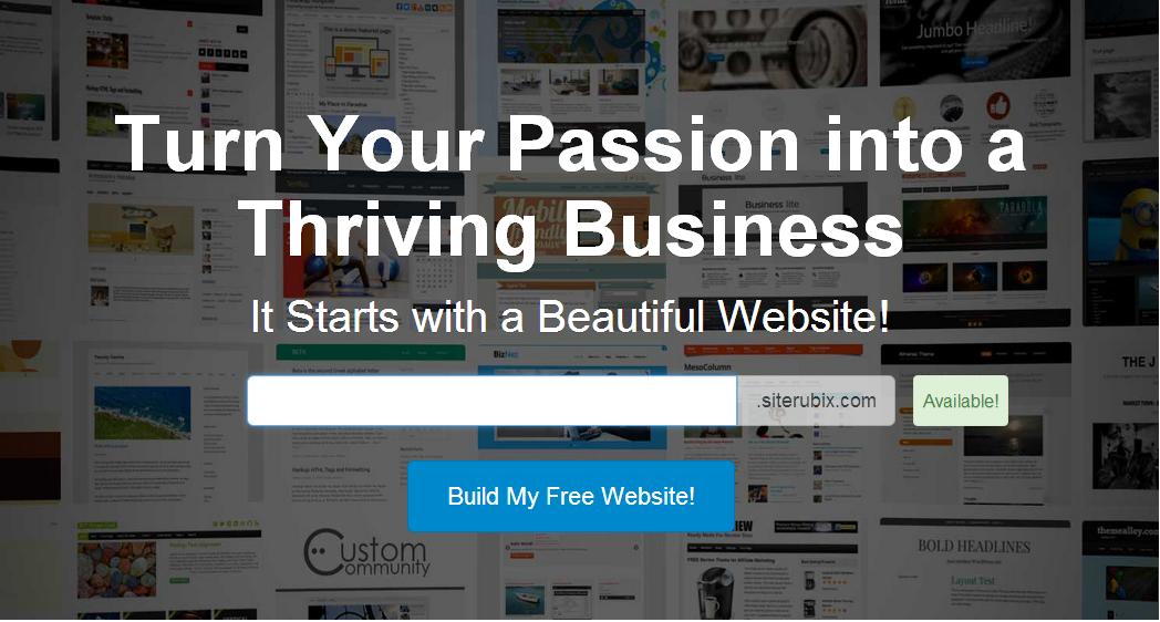 Build Your Free Siterubix Site