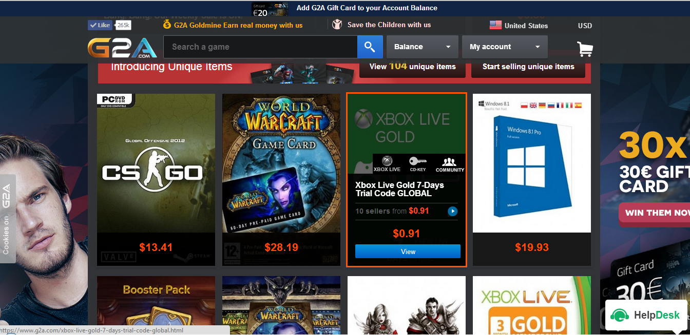 G2A.com Screenshot